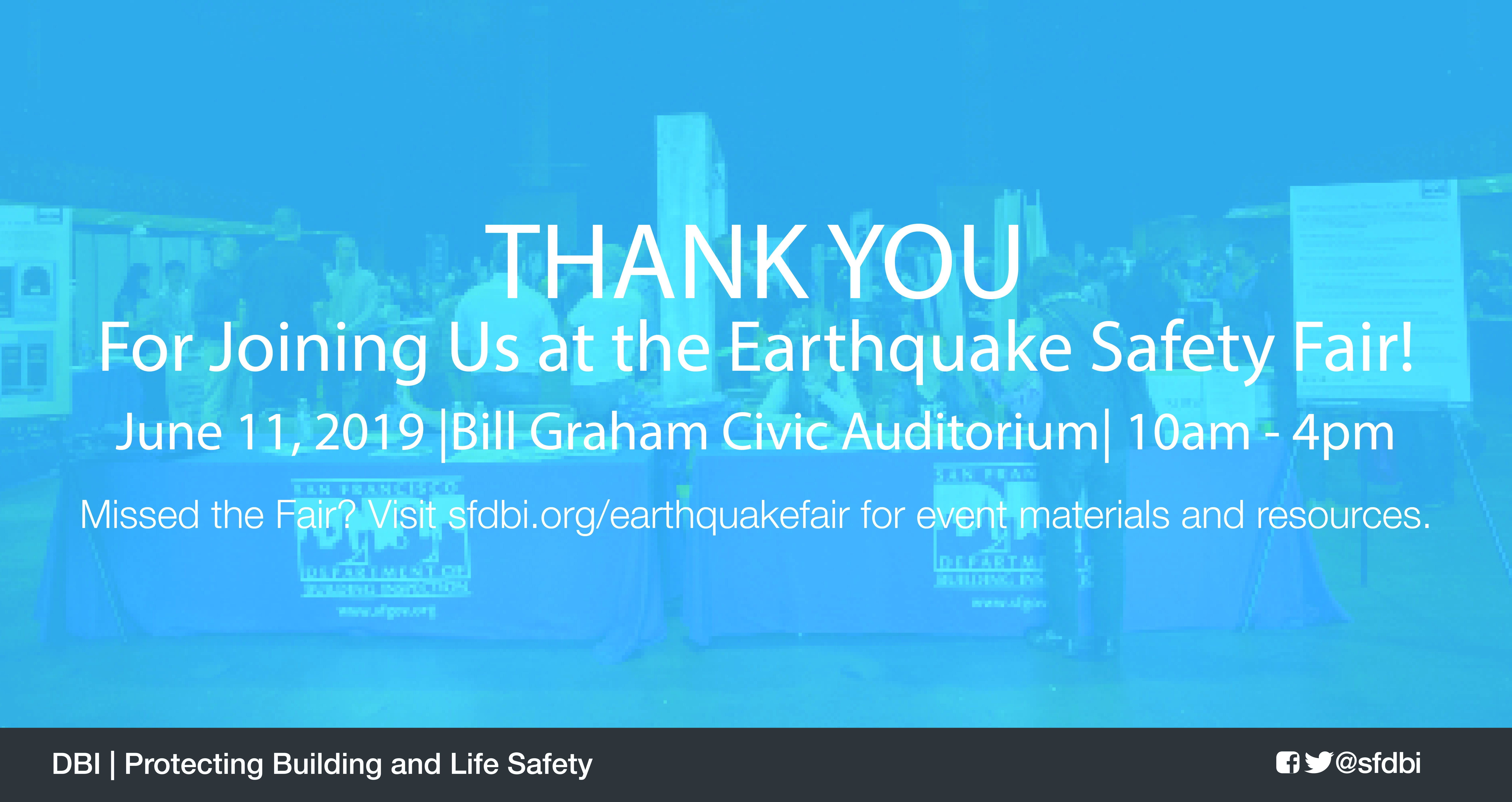 Thank you for attending the Earthquake Safety Fair