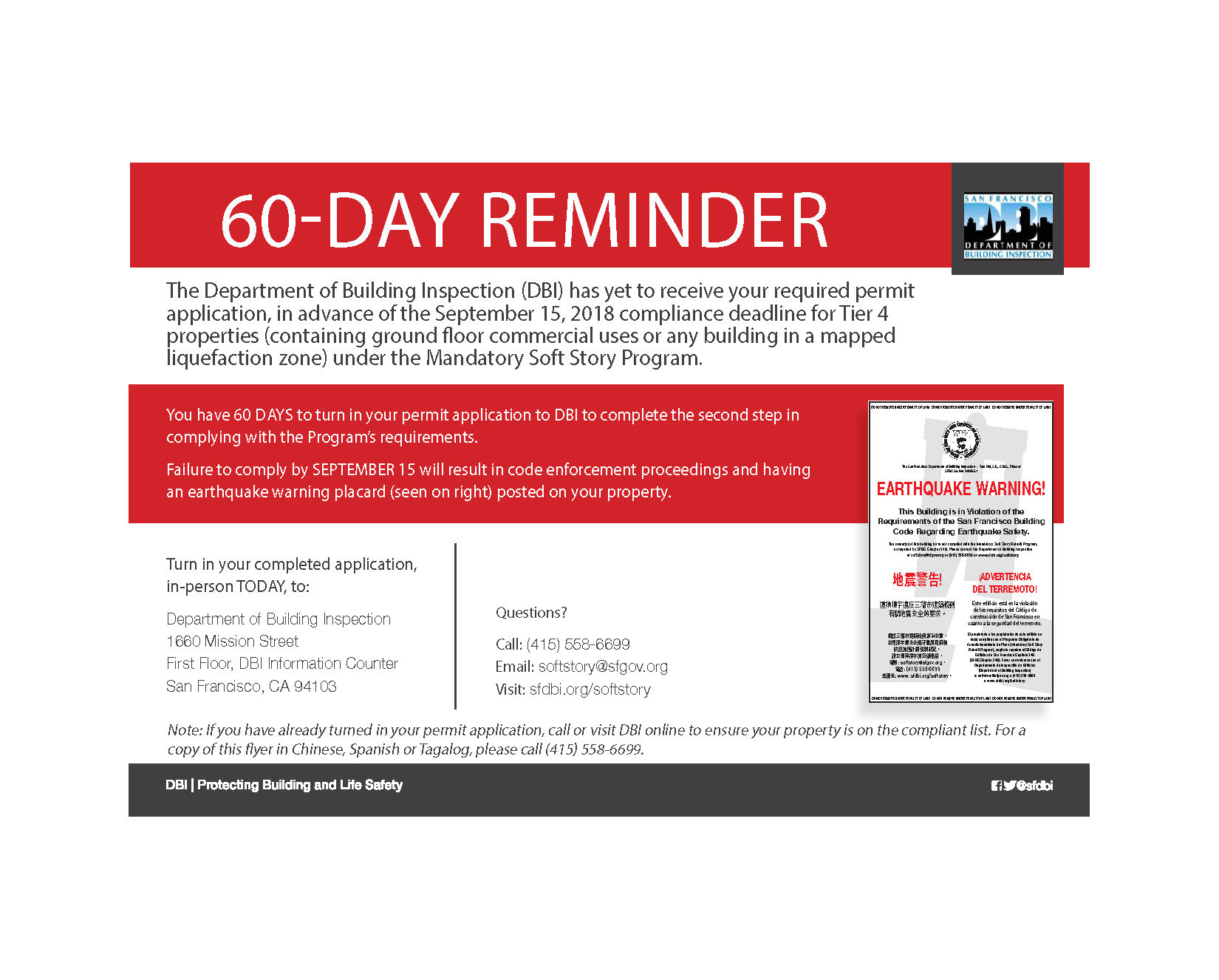 TIER 4 60-day reminder postcard