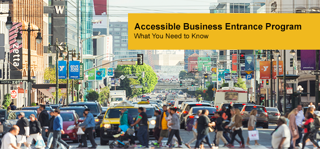 Accessible Business Entrance Program