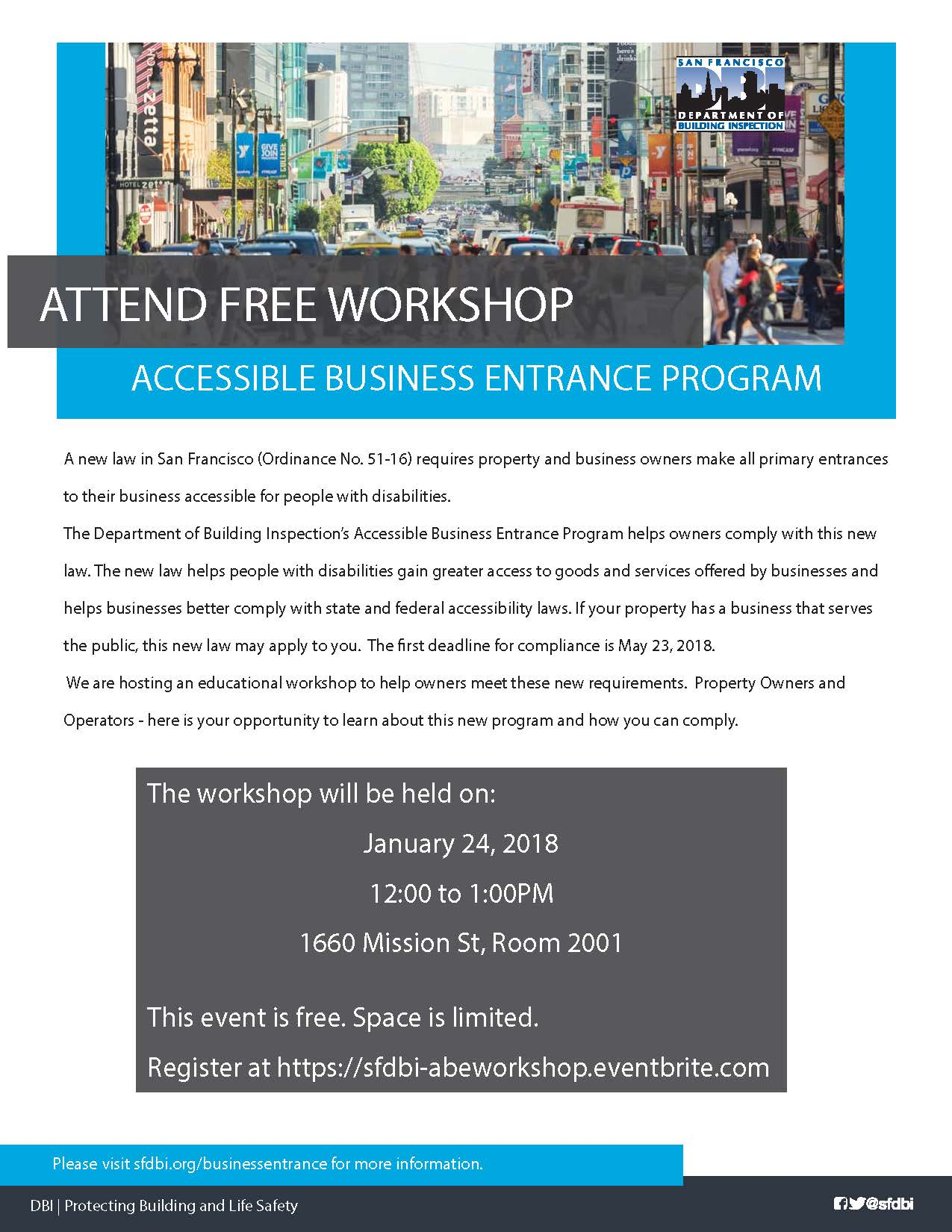 Accessible Business Entrance Program Workshop Information