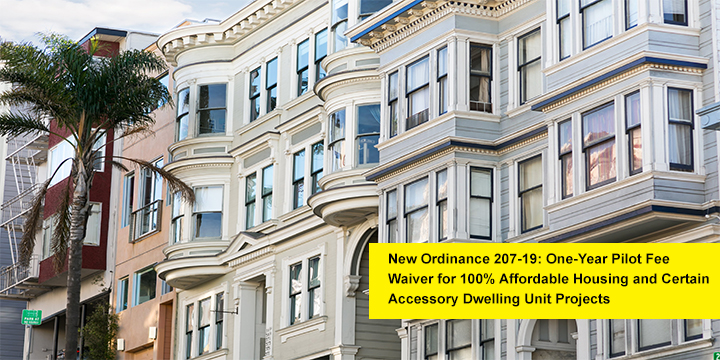 Ordinance 207-19 Fee Waiver