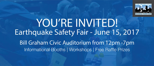 Join us at the Earthquake Safety Fair!